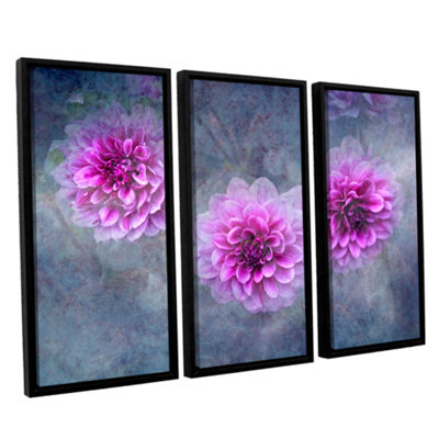 Brushstone Beauty in Violet 3-pc. Floater Framed Canvas Wall Art