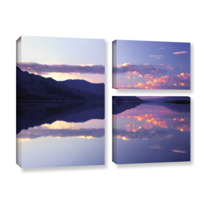 Brushstone Bad Water Sunset 3-pc. Flag Gallery Wrapped Canvas Wall Art
