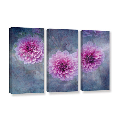 Brushstone Beauty in Violet 3-pc. Gallery WrappedCanvas Wall Art