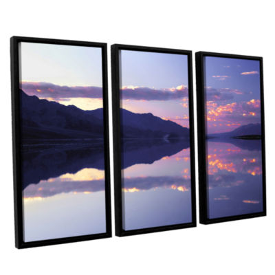 Brushstone Bad Water Sunset 3-pc. Floater Framed Canvas Wall Art