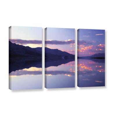 Brushstone Bad Water Sunset 3-pc. Gallery WrappedCanvas Wall Art