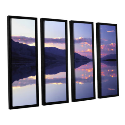 Brushstone Bad Water Sunset 4-pc. Floater Framed Canvas Wall Art