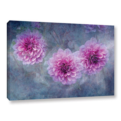Brushstone Beauty in Violet Gallery Wrapped CanvasWall Art