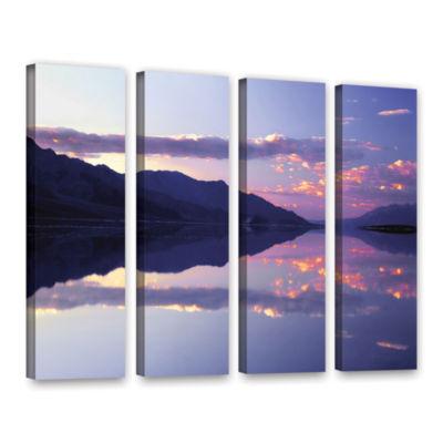 Brushstone Bad Water Sunset 4-pc. Gallery WrappedCanvas Wall Art