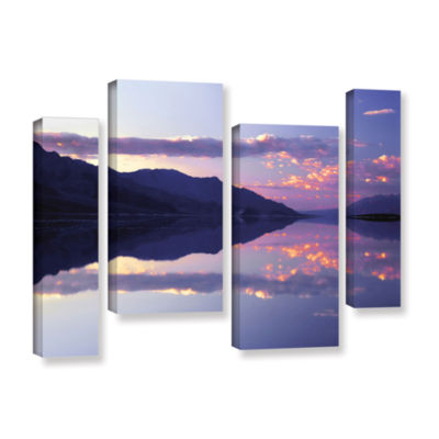Brushstone Bad Water Sunset 4-pc. Gallery WrappedStaggered Canvas Wall Art