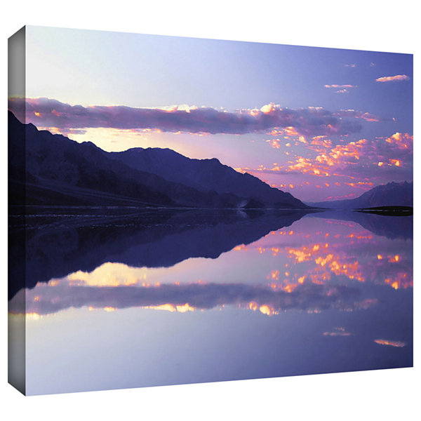 Brushstone Bad Water Sunset Gallery Wrapped CanvasWall Art