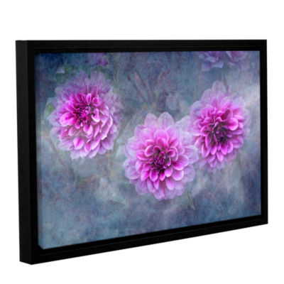 Brushstone Beauty in Violet Gallery Wrapped Floater-Framed Canvas Wall Art