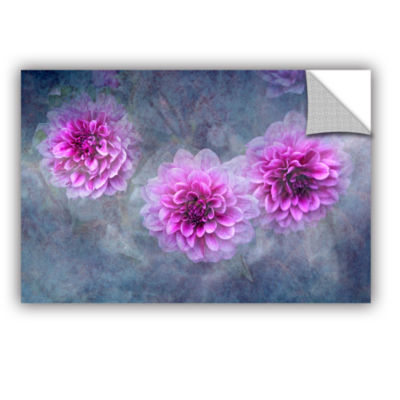 Brushstone Beauty in Violet Removable Wall Decal