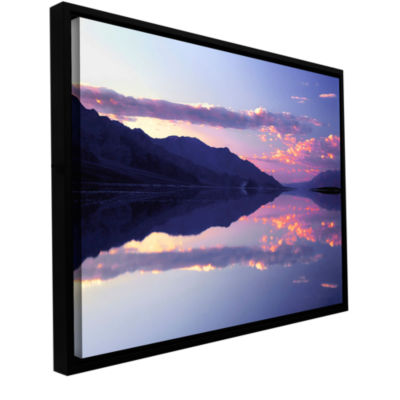 Brushstone Bad Water Sunset Gallery Wrapped Floater-Framed Canvas Wall Art