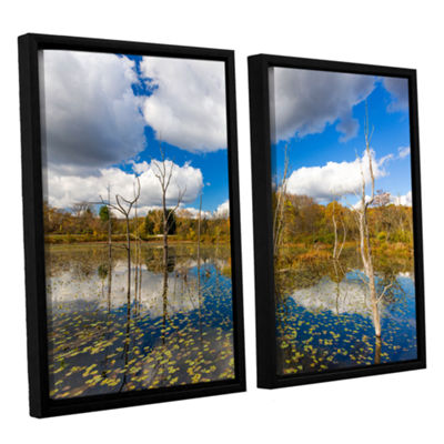 Brushstone Beaver Marsh 2-pc. Floater Framed Canvas Wall Art