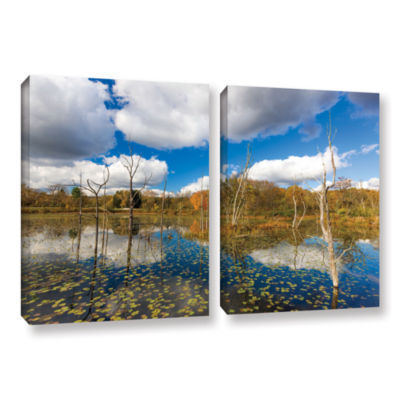 Brushstone Beaver Marsh 2-pc. Gallery Wrapped Canvas Wall Art