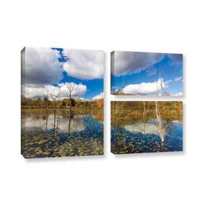 Brushstone Beaver Marsh 3-pc. Flag Gallery WrappedCanvas Wall Art