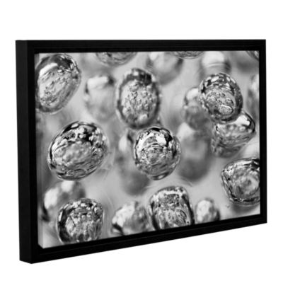 Brushstone Black and White Bubbles Gallery WrappedFloater-Framed Canvas Wall Art
