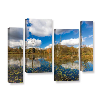 Brushstone Beaver Marsh 4-pc. Gallery Wrapped Staggered Canvas Wall Art