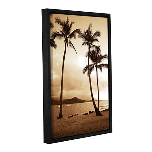 Brushstone Bali Hai Island Time Gallery Wrapped Floater-Framed Canvas Wall Art
