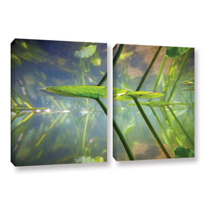 Brushstone Beaver Pond #1 2-pc. Gallery Wrapped Canvas Wall Art