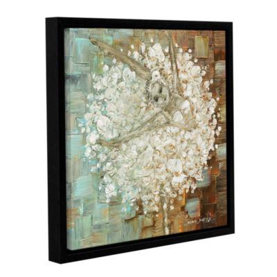 Brushstone Ballerina 2 Gallery Wrapped Floater-Framed Canvas Wall Art