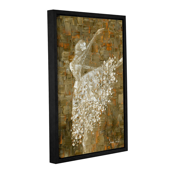 Brushstone Ballerina Gallery Wrapped Floater-Framed Canvas Wall Art