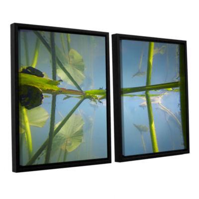 Brushstone Beaver Pond #2 2-pc. Floater Framed Canvas Wall Art