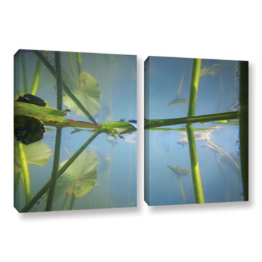 Brushstone Beaver Pond #2 2-pc. Gallery Wrapped Canvas Wall Art