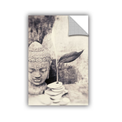 Brushstone Black and White Buddha Removable Wall Decal