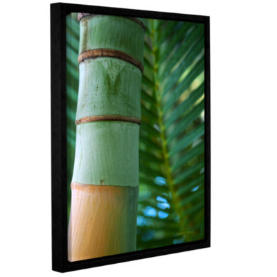 Brushstone Bamboo and Fern Gallery Wrapped Floater-Framed Canvas Wall Art