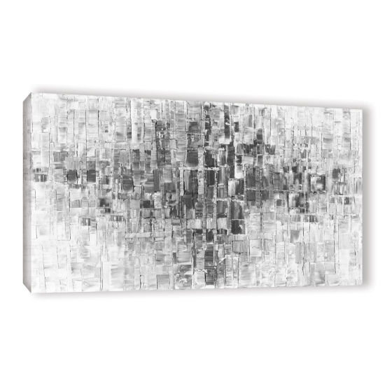 Brushstone Black and White Gallery Wrapped Canvas Wall Art