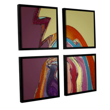 Brushstone Bandada Flock 4-pc. Square Floater Framed Canvas