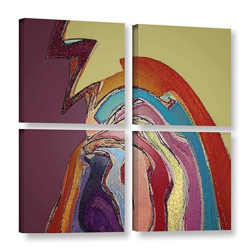 Brushstone Bandada Flock 4-pc. Square Gallery Wrapped Canvas
