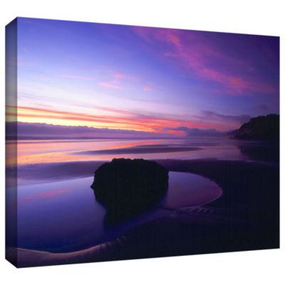 Brushstone Bandon Beach Twilight Gallery Wrapped Canvas Wall Art