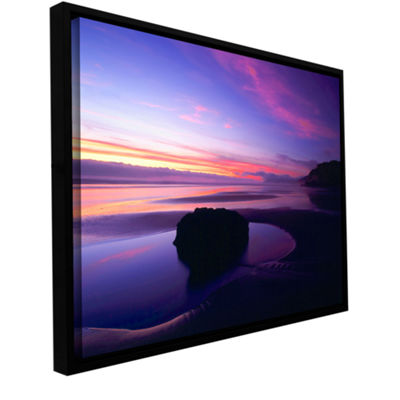 Brushstone Bandon Beach Twilight Gallery Wrapped Floater-Framed Canvas Wall Art