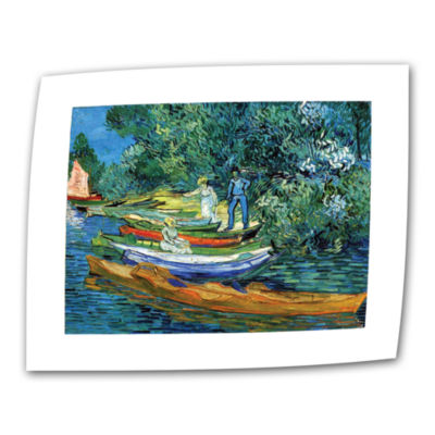 Brushstone Bank of the Oise at Auver Canvas Wall Art