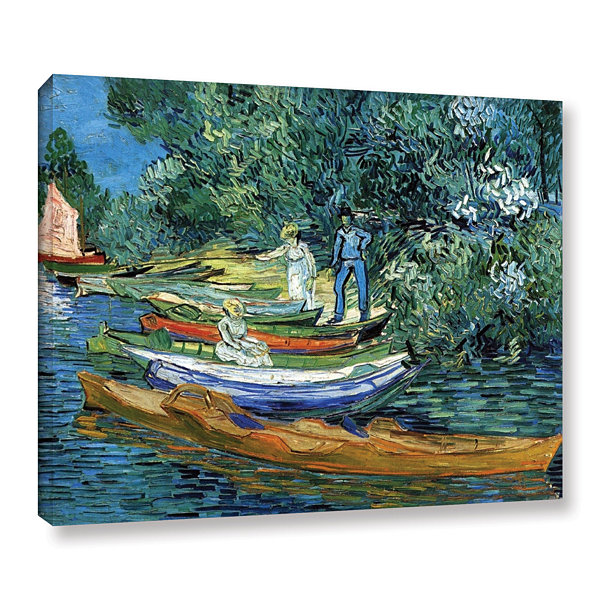 Brushstone Bank of the Oise at Auver Gallery Wrapped Canvas Wall Art