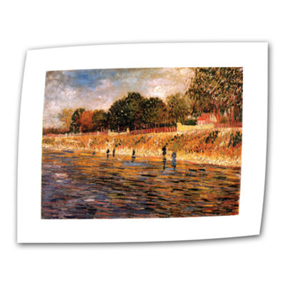 Brushstone Banks of the Seine Canvas Wall Art