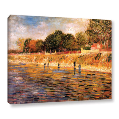 Brushstone Banks of the Seine Gallery Wrapped Canvas Wall Art