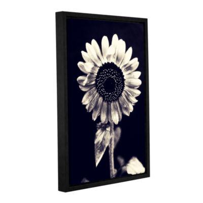 Brushstone Black and White Sunflower Gallery Wrapped Floater-Framed Canvas Wall Art