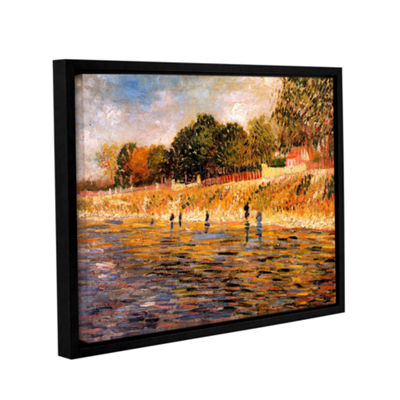 Brushstone Banks of the Seine Gallery Wrapped Floater-Framed Canvas Wall Art