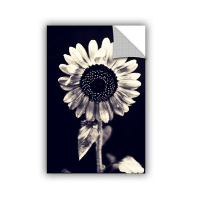 Brushstone Black and White Sunflower Removable Wall Decal