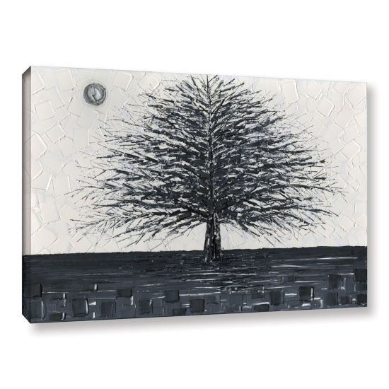 Brushstone Black and White Tree Gallery Wrapped Canvas Wall Art