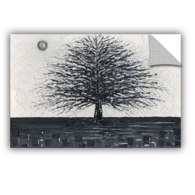 Brushstone Black and White Tree Removable Wall Decal