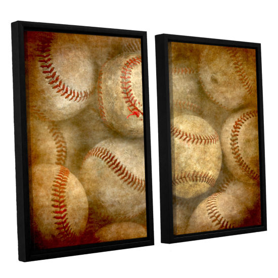 Brushstone Baseballs 2-pc. Floater Framed Canvas Wall Art
