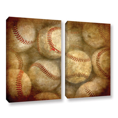 Brushstone Baseballs 2-pc. Gallery Wrapped CanvasWall Art