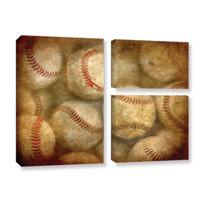 Brushstone Baseballs 3-pc. Flag Gallery Wrapped Canvas Wall Art