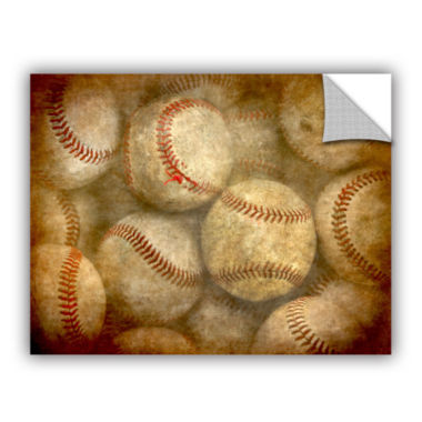 Brushstone Baseballs Removable Wall Decal