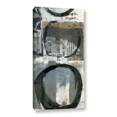 Brushstone Black Ink Enso Circle Gallery Wrapped Canvas Wall Art