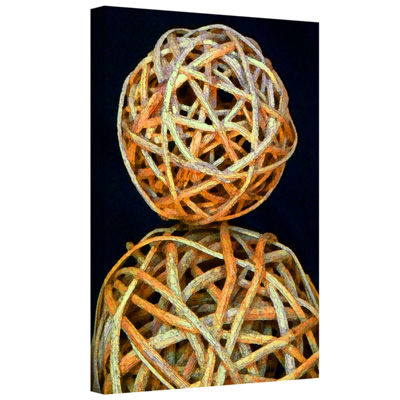 Brushstone Basket Spheres Gallery Wrapped Canvas Wall Art