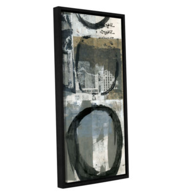 Brushstone Black Ink Enso Circle Gallery Wrapped Floater-Framed Canvas Wall Art