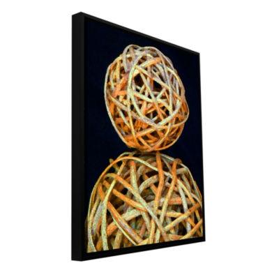 Brushstone Basket Spheres Gallery Wrapped Floater-Framed Canvas Wall Art