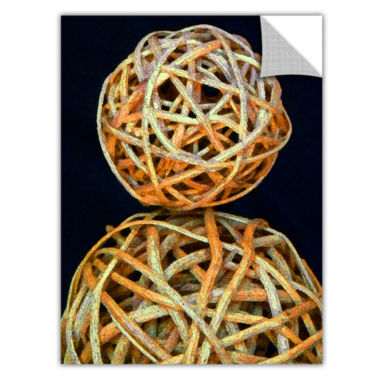 Brushstone Basket Spheres Removable Wall Decal