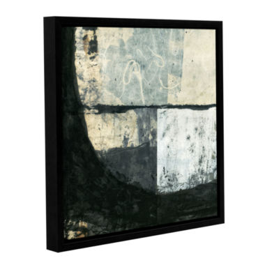 Brushstone Black Ink Gallery Wrapped Floater-Framed Canvas Wall Art